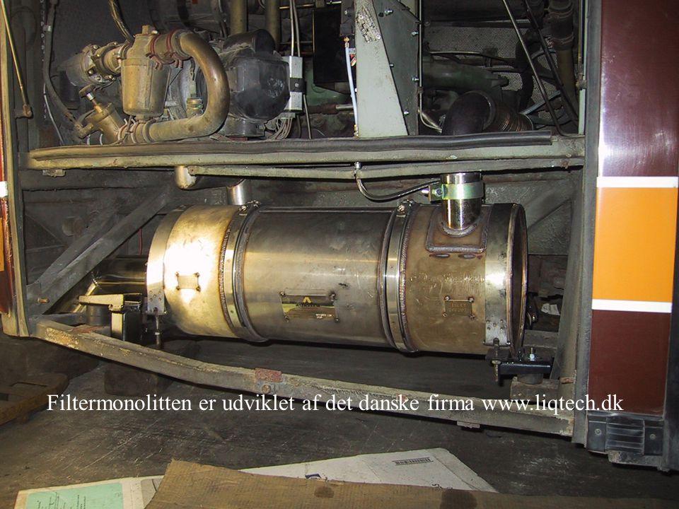 Filtermonolitten er udviklet af det danske firma www.liqtech.dk