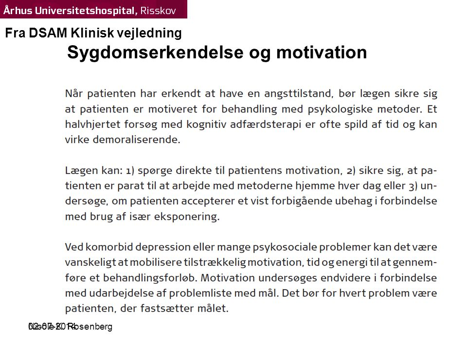 Sygdomserkendelse og motivation