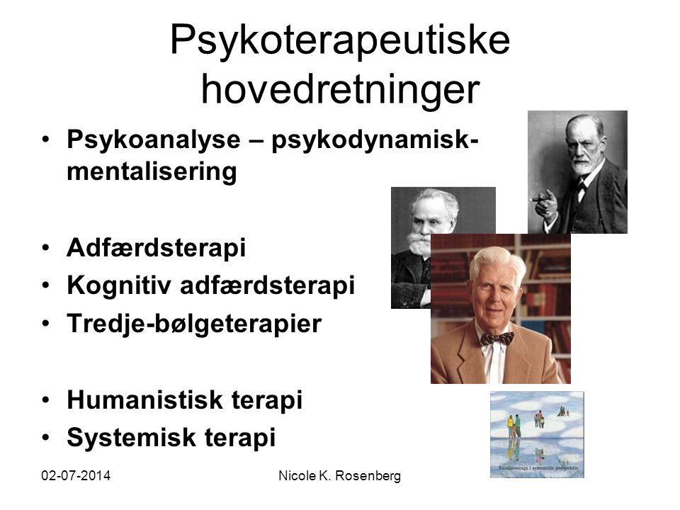 Psykoterapeutiske hovedretninger