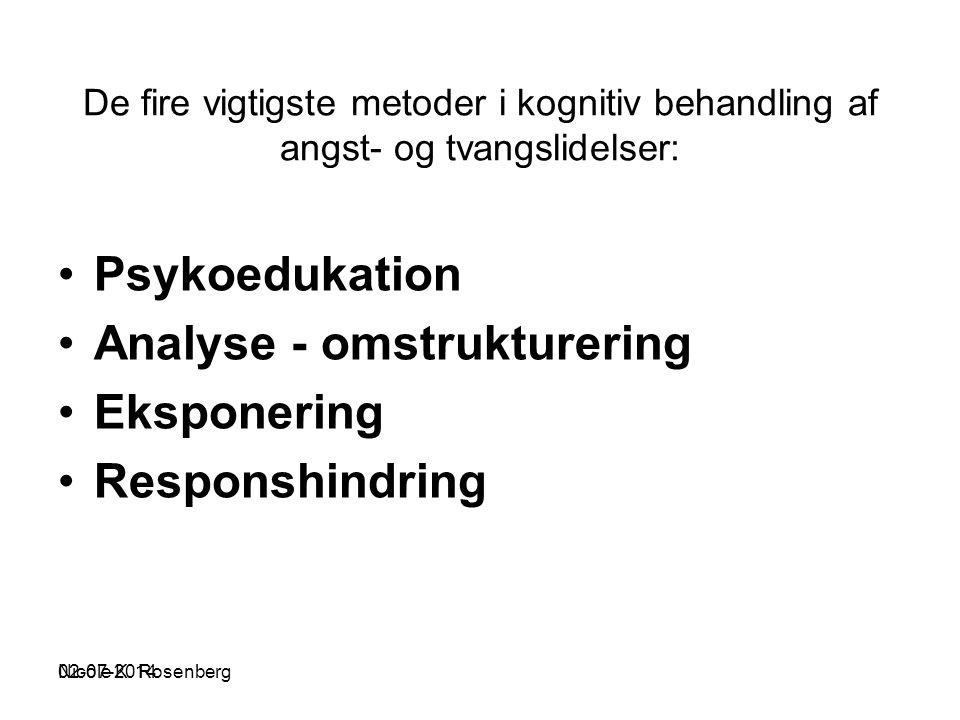 Analyse - omstrukturering Eksponering Responshindring