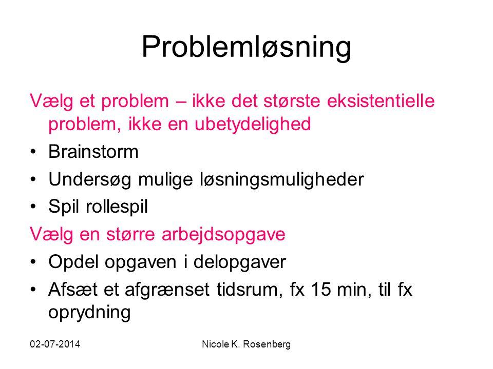 Problemløsning Vælg et problem – ikke det største eksistentielle problem, ikke en ubetydelighed. Brainstorm.