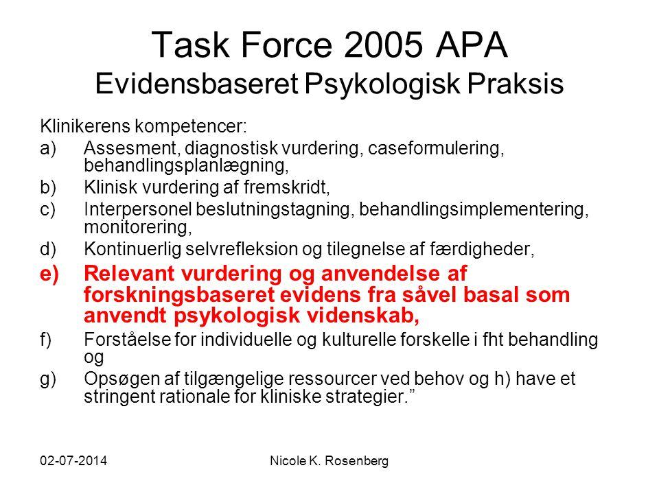 Task Force 2005 APA Evidensbaseret Psykologisk Praksis