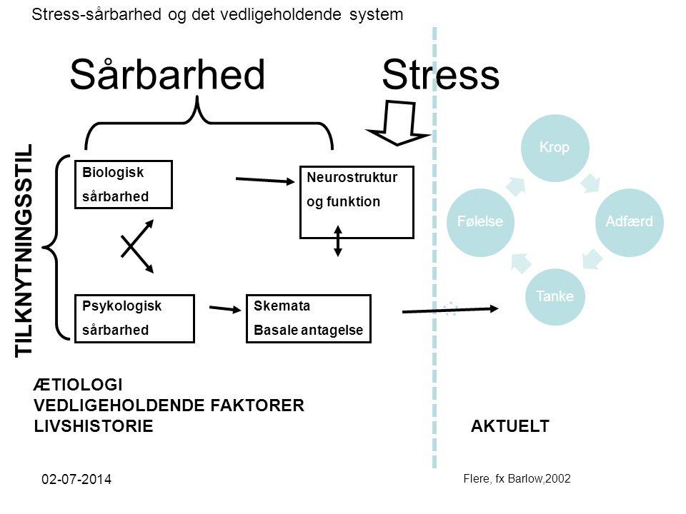 Sårbarhed Stress TILKNYTNINGSSTIL