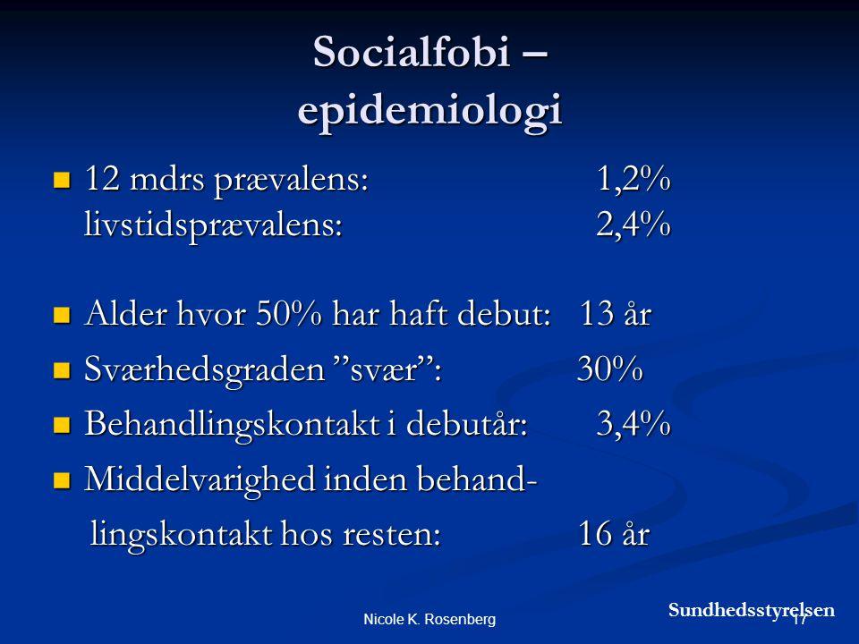 Socialfobi – epidemiologi