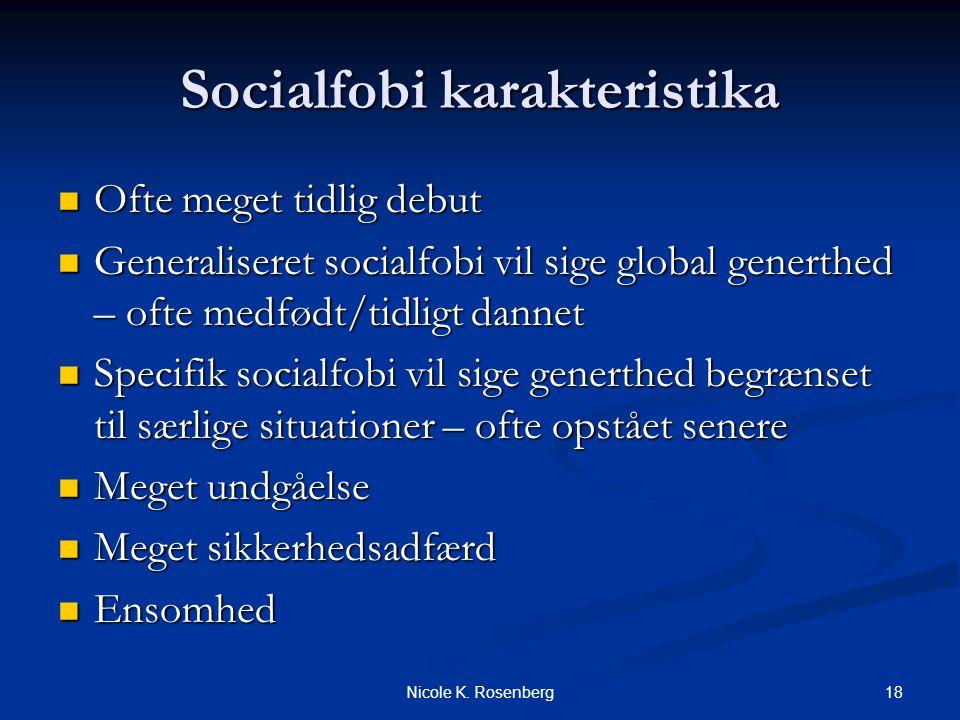 Socialfobi karakteristika
