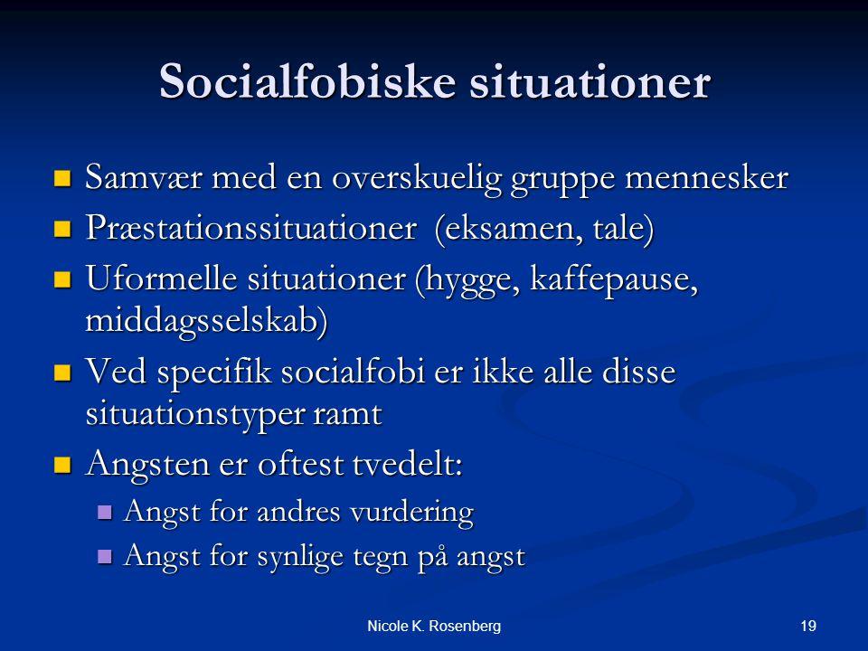Socialfobiske situationer