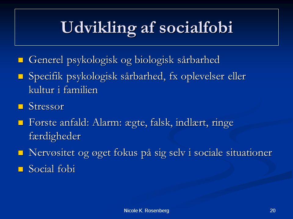 Udvikling af socialfobi