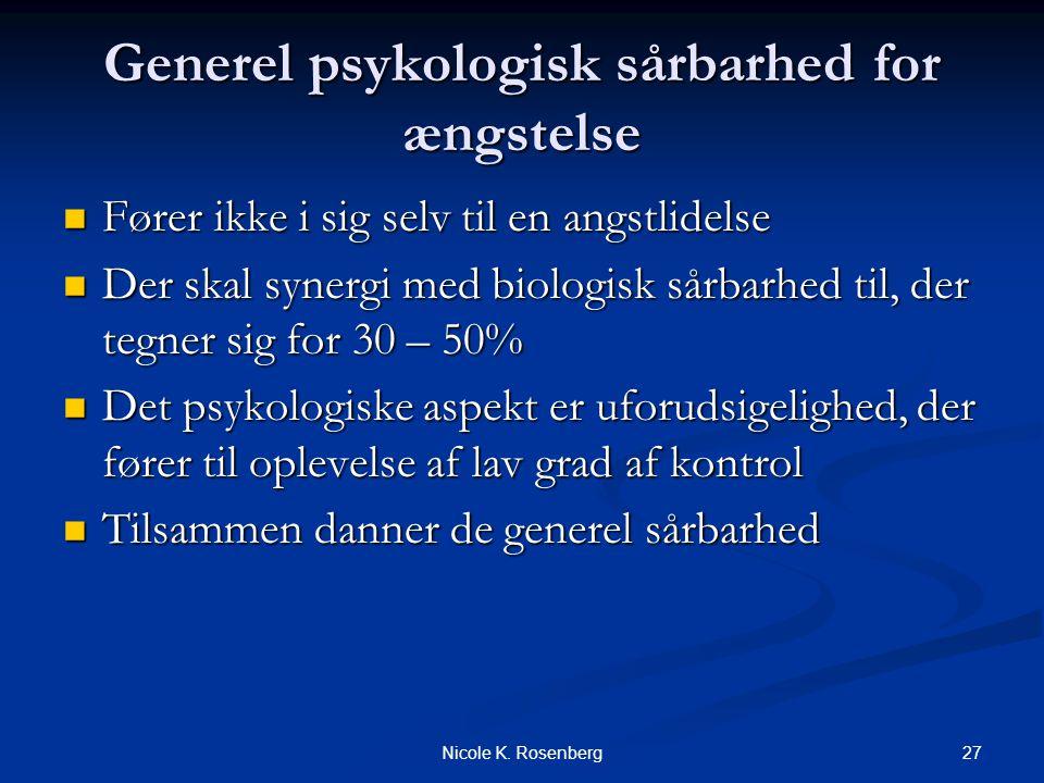 Generel psykologisk sårbarhed for ængstelse