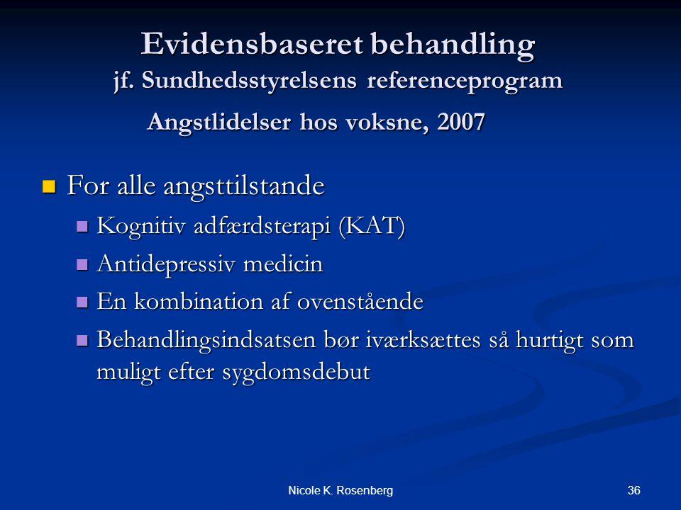 Evidensbaseret behandling jf. Sundhedsstyrelsens referenceprogram