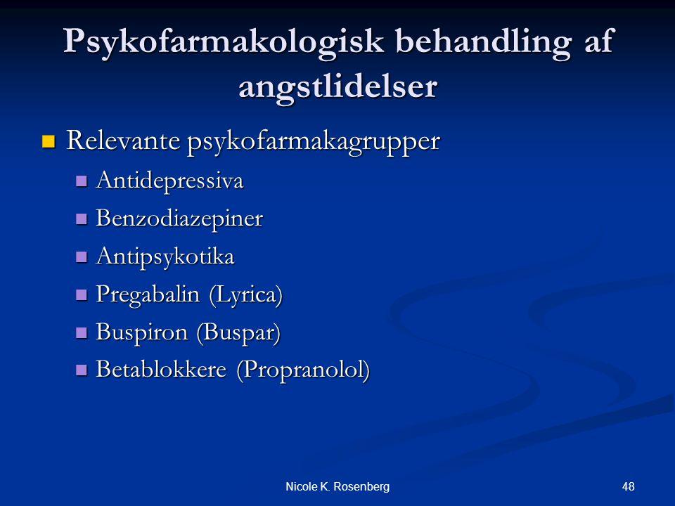 Psykofarmakologisk behandling af angstlidelser