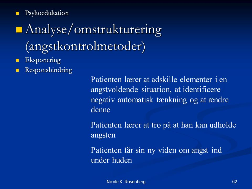 Analyse/omstrukturering (angstkontrolmetoder)