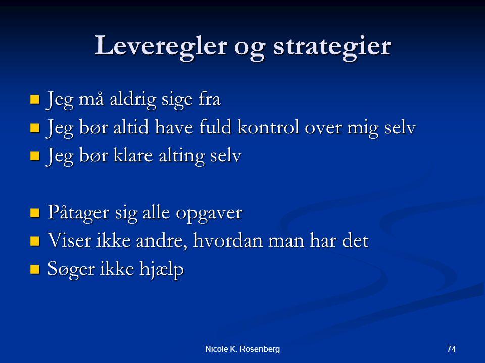 Leveregler og strategier