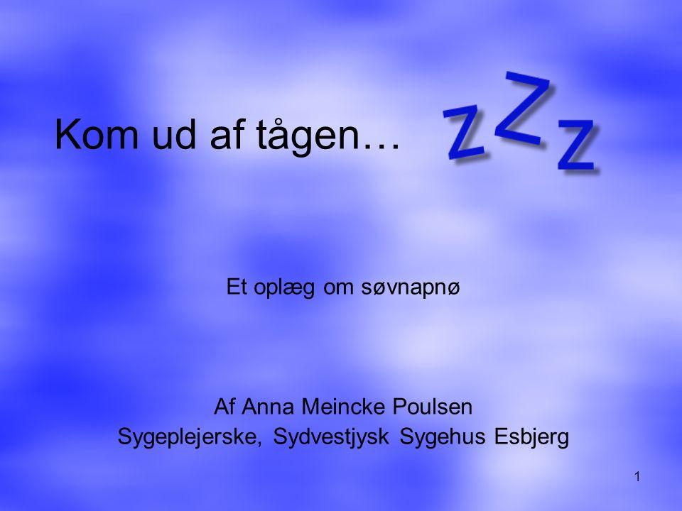 Kom ud af tågen… Et oplæg om søvnapnø Af Anna Meincke Poulsen