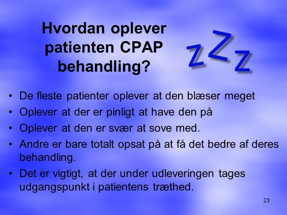 Hvordan oplever patienten CPAP behandling