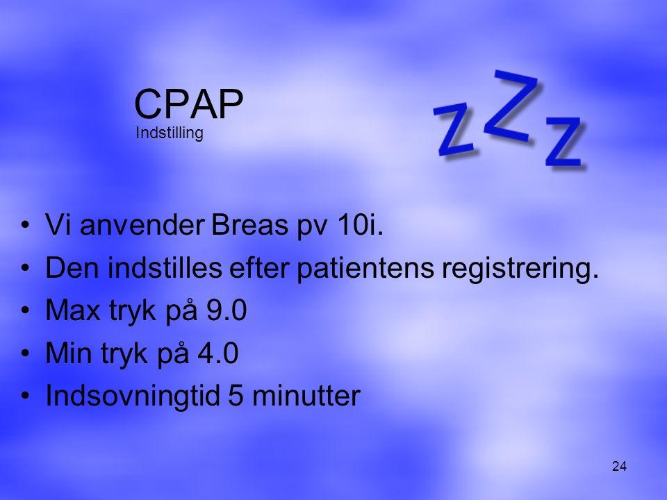 CPAP Vi anvender Breas pv 10i.