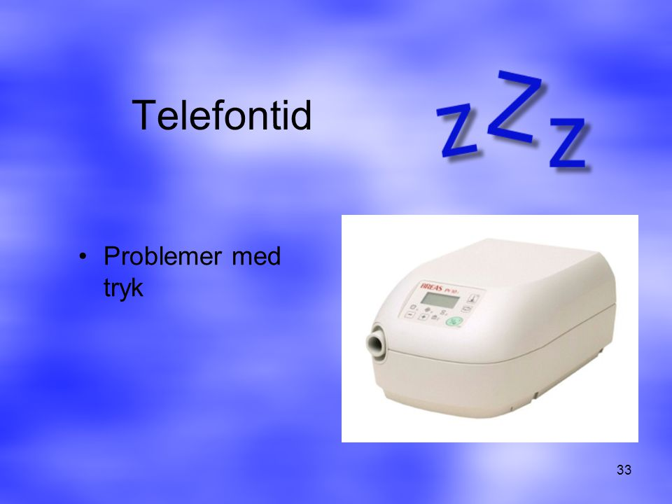 Telefontid Problemer med tryk