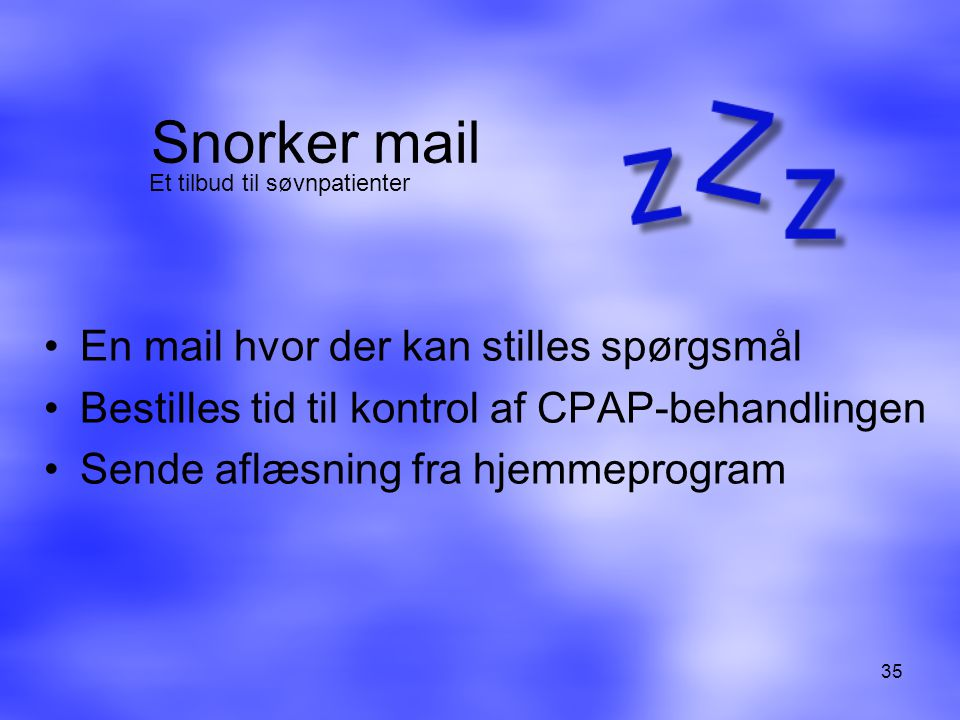 Snorker mail En mail hvor der kan stilles spørgsmål
