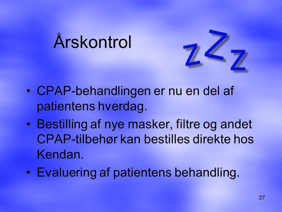 Årskontrol CPAP-behandlingen er nu en del af patientens hverdag.