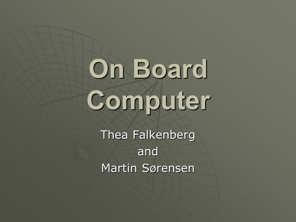 Thea Falkenberg and Martin Sørensen