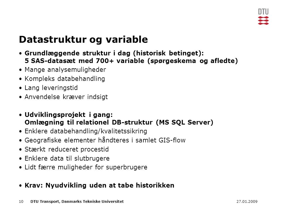 Datastruktur og variable