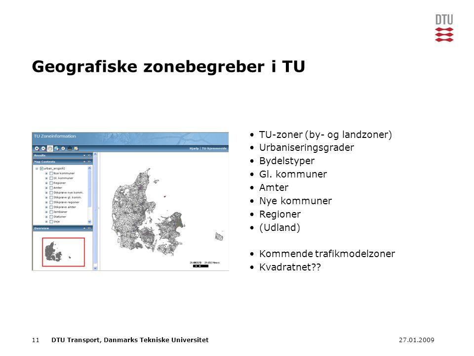 Geografiske zonebegreber i TU