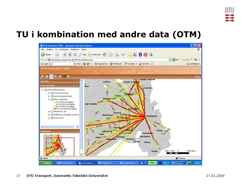 TU i kombination med andre data (OTM)