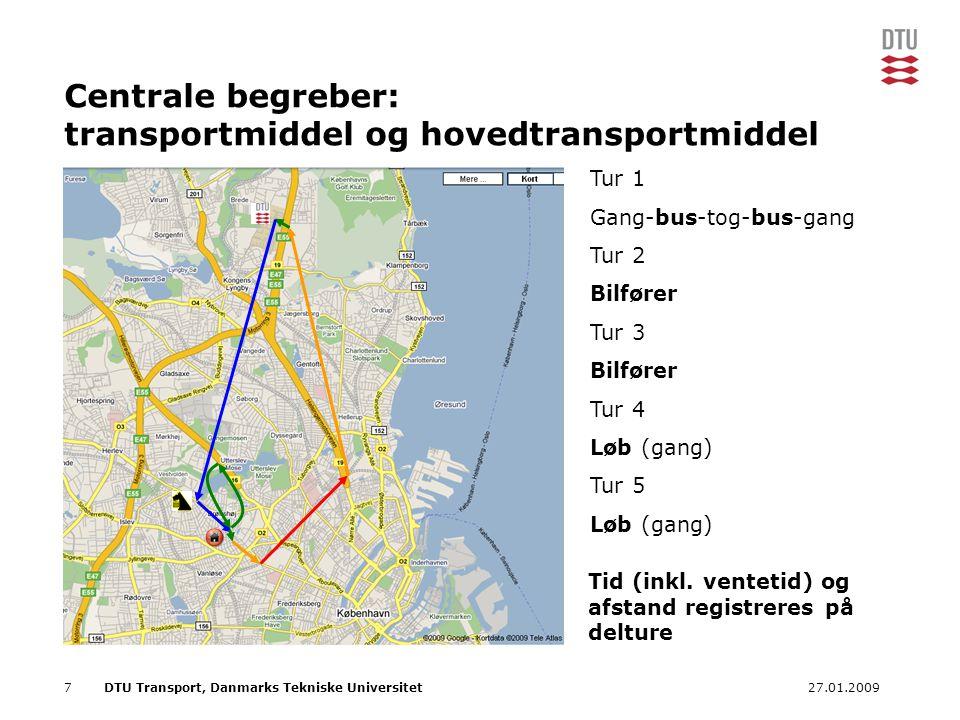 Centrale begreber: transportmiddel og hovedtransportmiddel