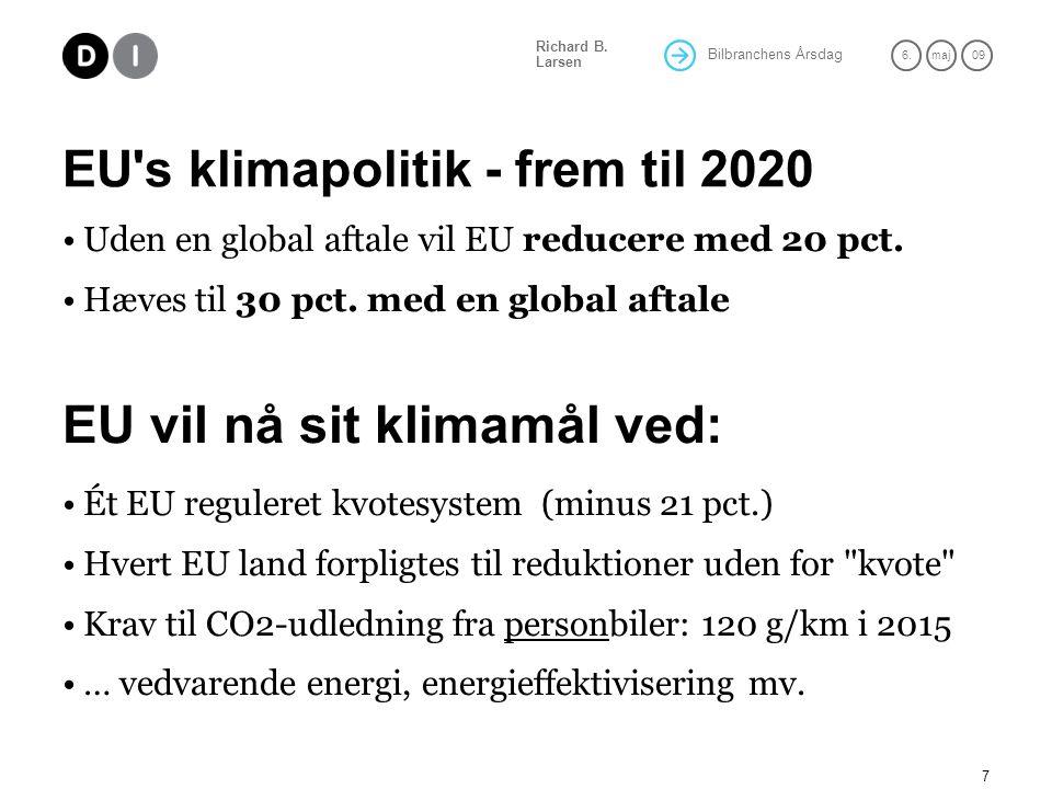 EU s klimapolitik - frem til 2020