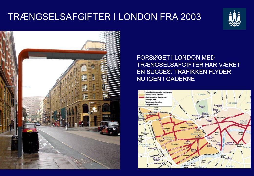 TRÆNGSELSAFGIFTER I LONDON FRA 2003