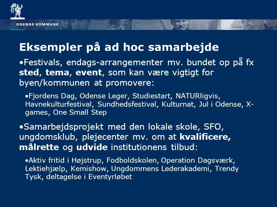Eksempler på ad hoc samarbejde