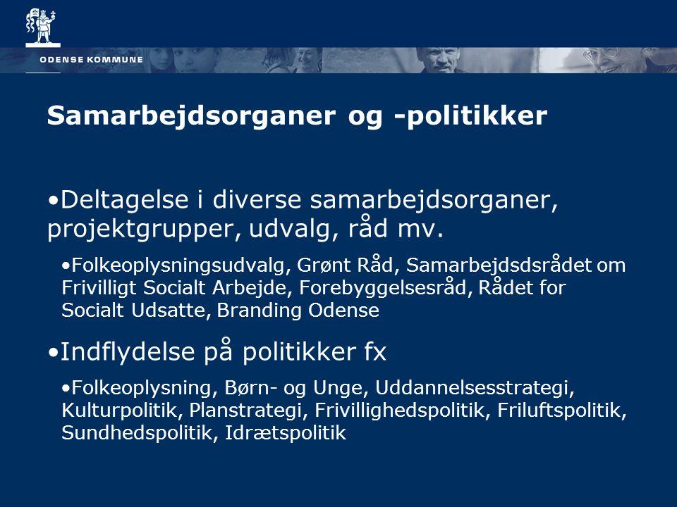 Samarbejdsorganer og -politikker