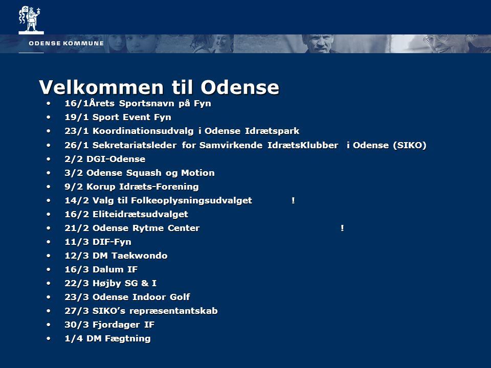 Velkommen til Odense 16/1Årets Sportsnavn på Fyn 19/1 Sport Event Fyn