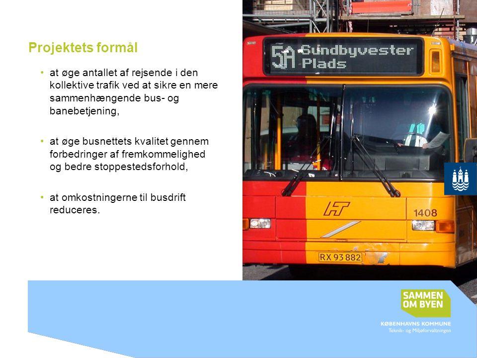Projektets formål at øge antallet af rejsende i den kollektive trafik ved at sikre en mere sammenhængende bus- og banebetjening,