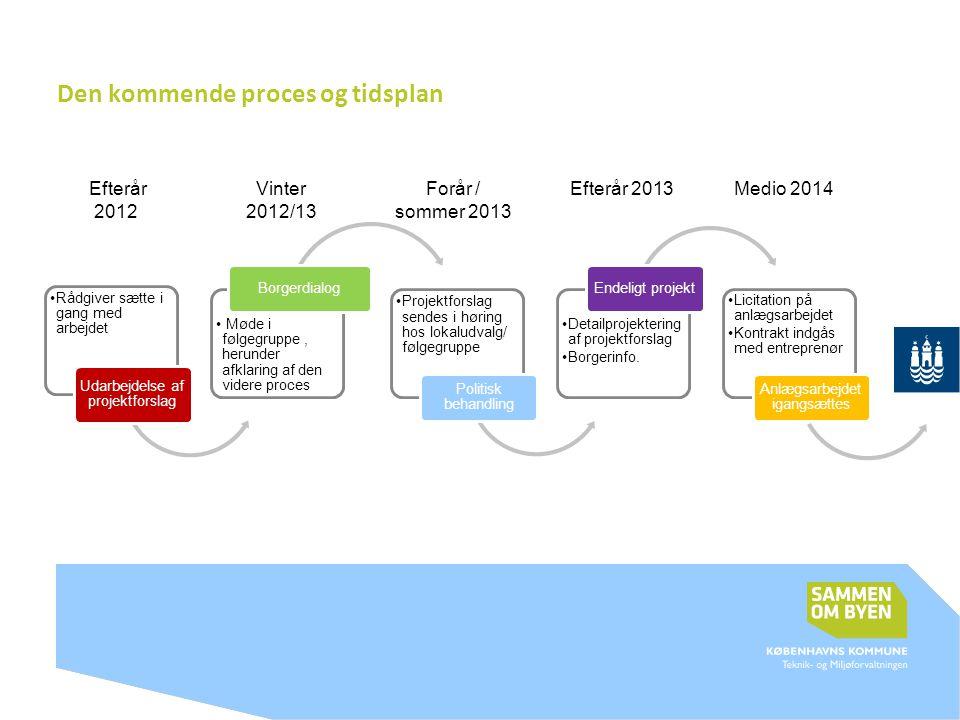 Den kommende proces og tidsplan