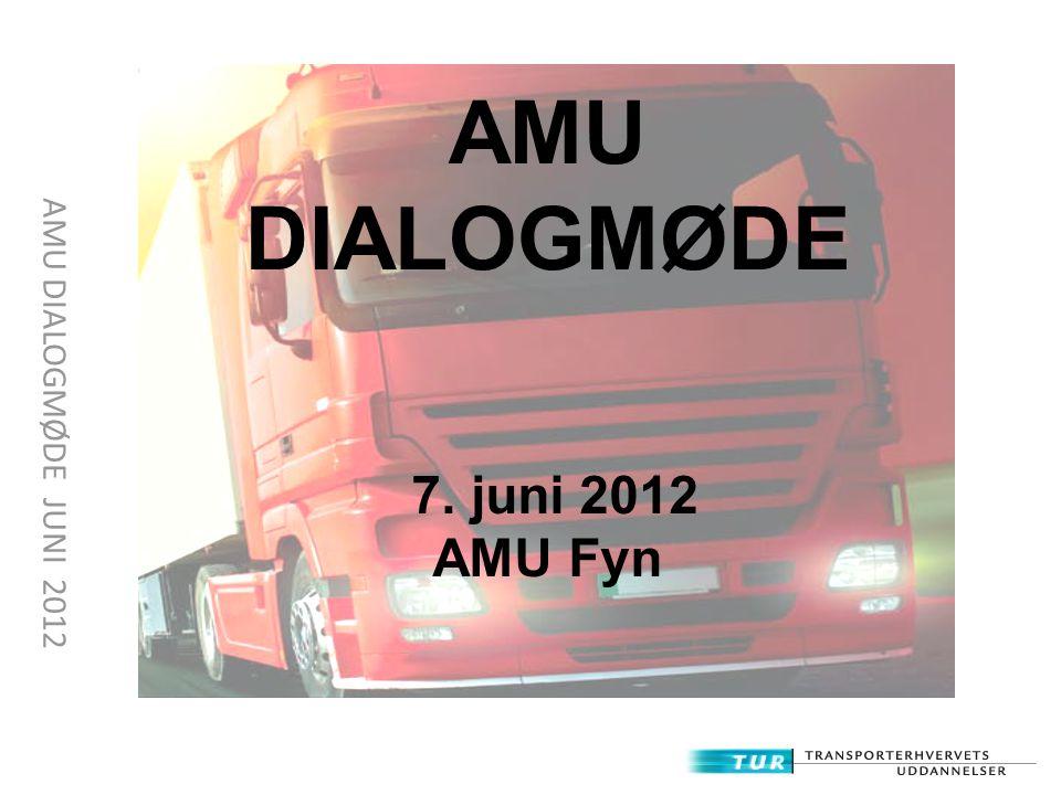 AMU DIALOGMØDE 7. juni 2012 AMU Fyn AMU DIALOGMØDE JUNI 2012