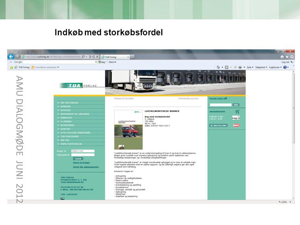 AMU DIALOGMØDE JUNI 2012 Indkøb med storkøbsfordel tekst 19