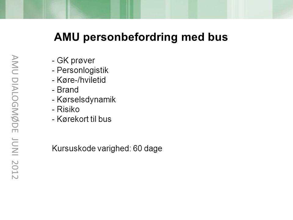 AMU personbefordring med bus