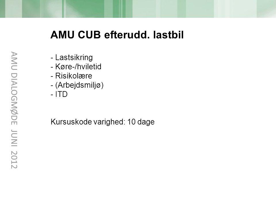 AMU CUB efterudd. lastbil