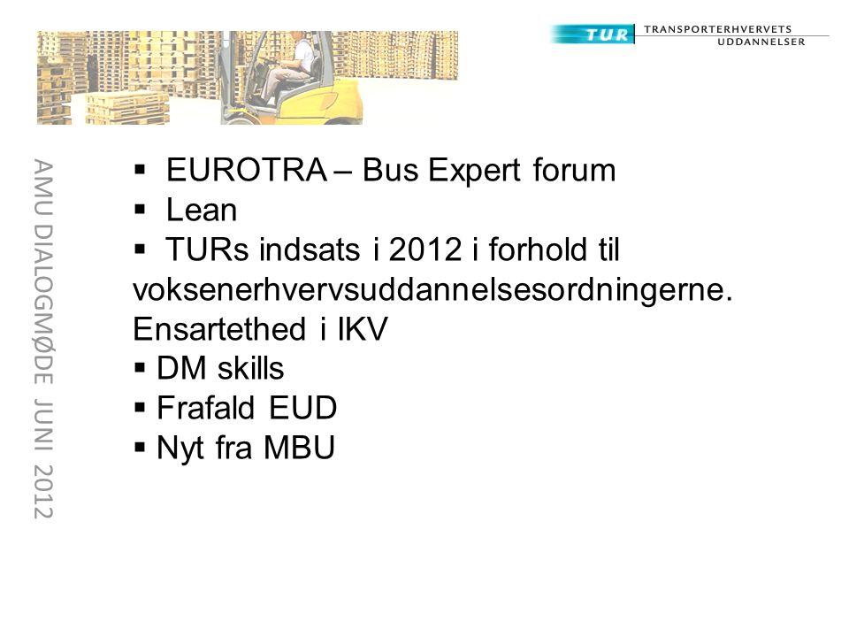 EUROTRA – Bus Expert forum Lean