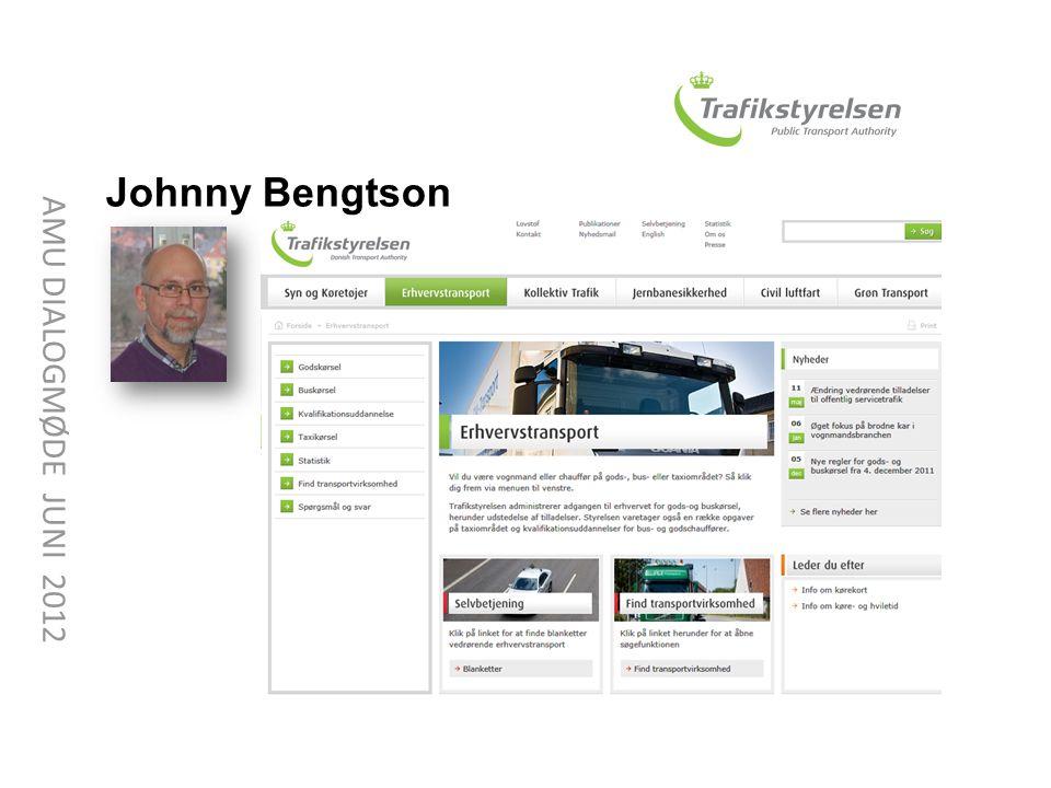 Johnny Bengtson AMU DIALOGMØDE JUNI 2012 Johnny Bengtson
