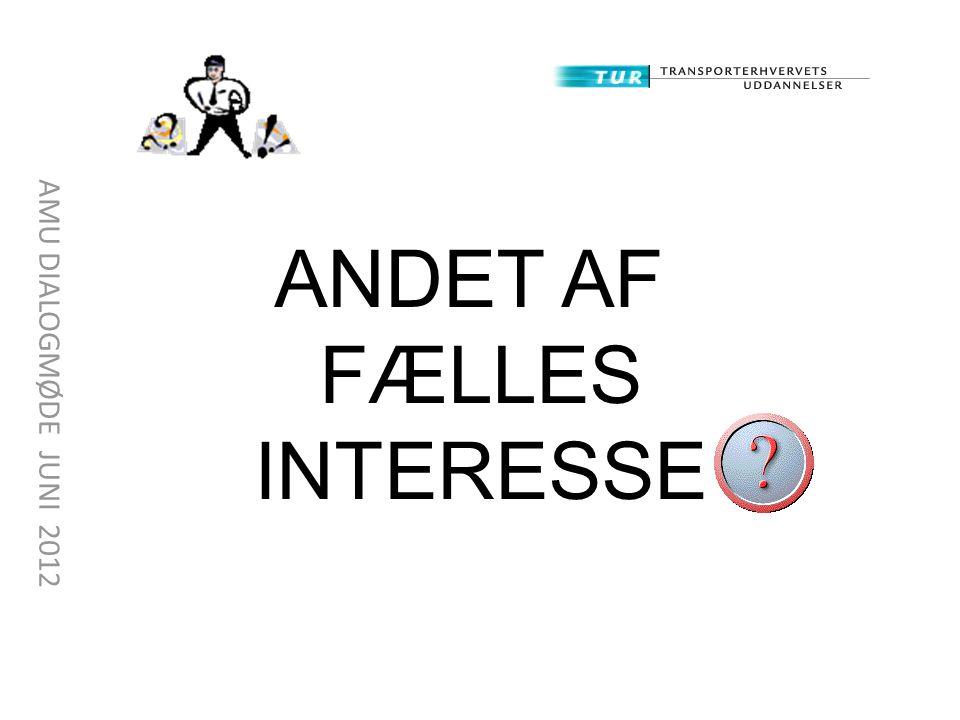 ANDET AF FÆLLES INTERESSE
