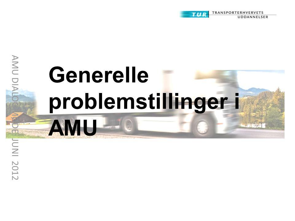 Generelle problemstillinger i AMU