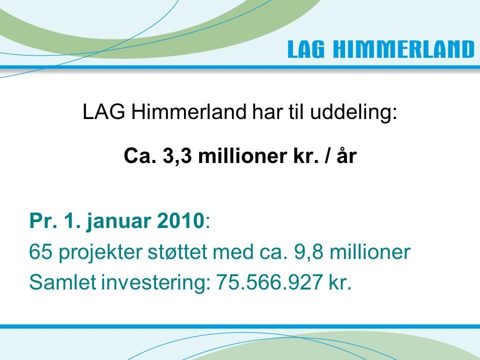 LAG Himmerland har til uddeling: