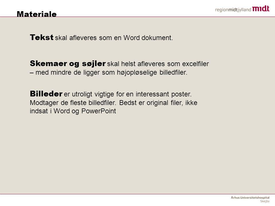 Tekst skal afleveres som en Word dokument.