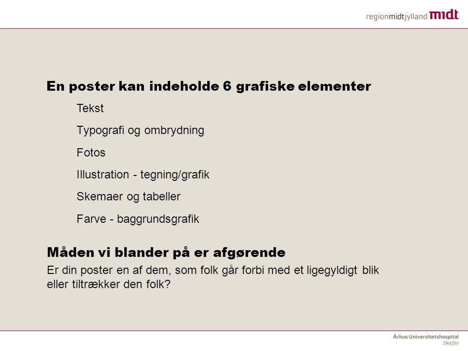 En poster kan indeholde 6 grafiske elementer