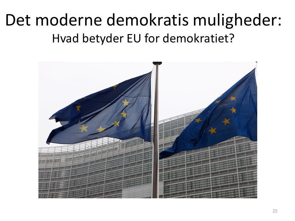Det moderne demokratis muligheder: Hvad betyder EU for demokratiet
