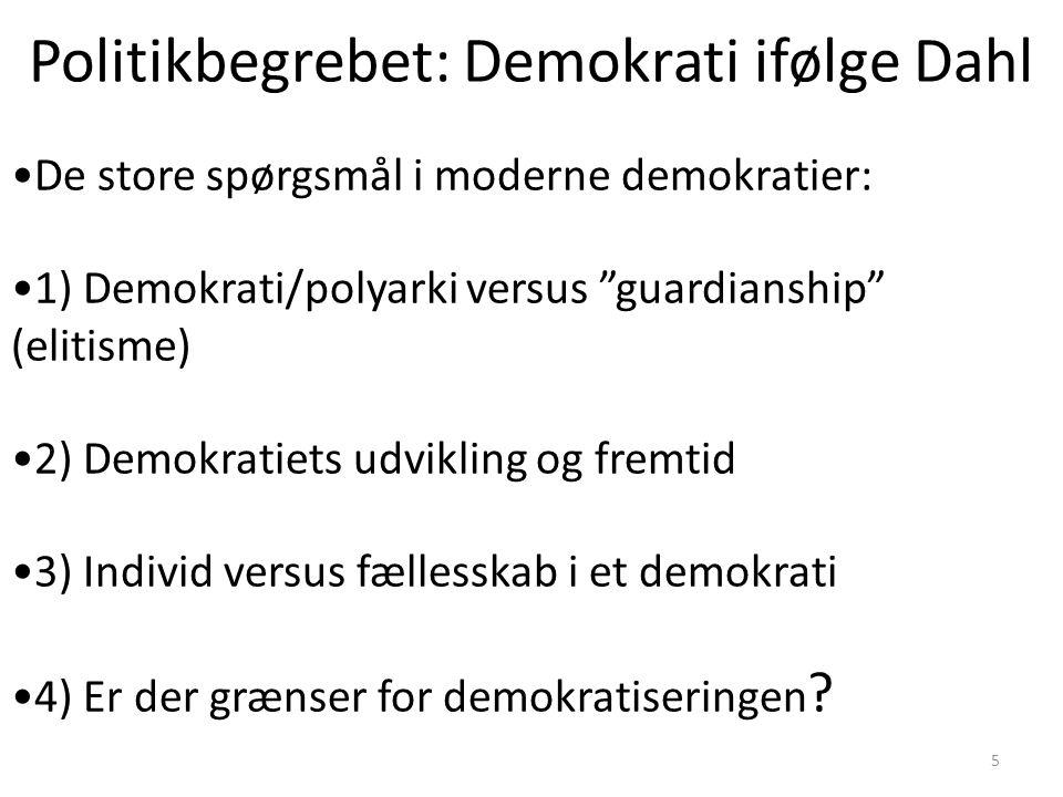 Politikbegrebet: Demokrati ifølge Dahl
