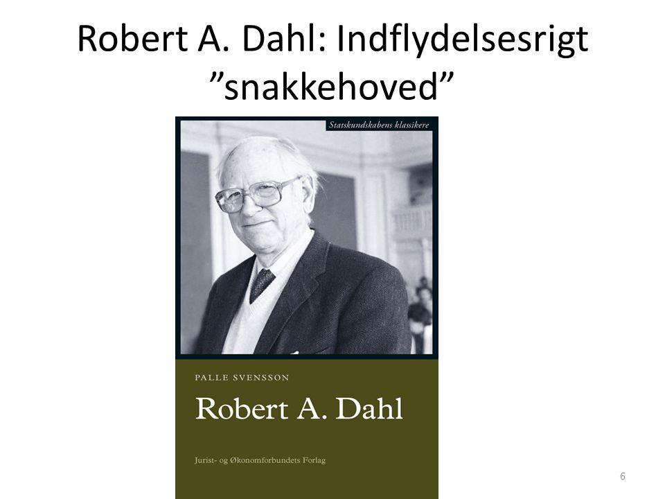 Robert A. Dahl: Indflydelsesrigt snakkehoved