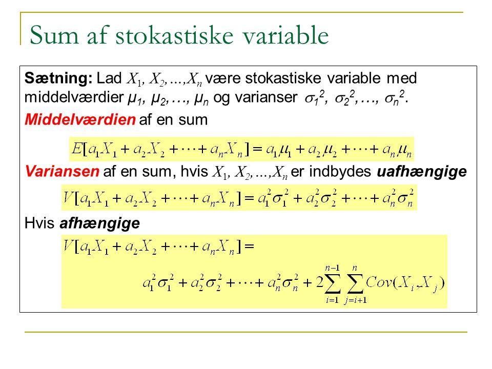 Sum af stokastiske variable
