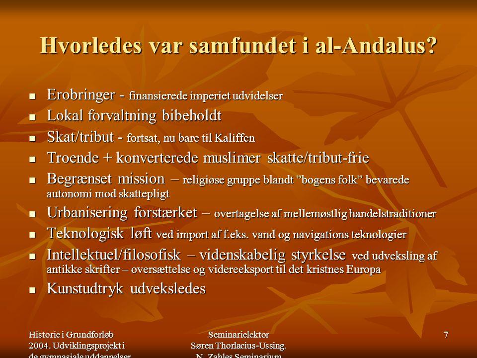 Hvorledes var samfundet i al-Andalus